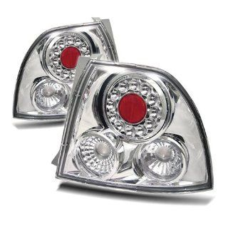 Honda Accord 94 95 LED Tail Lights + Hi Power White LED Backup Lights   Chrome (Pair) Automotive