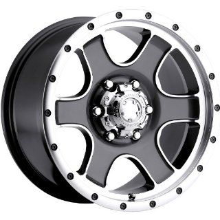 Ultra Nomad Trailer 16 Gray Wheel / Rim 6x5.5 with a 0mm Offset and a 108 Hub Bore. Partnumber 174 6683GN Automotive