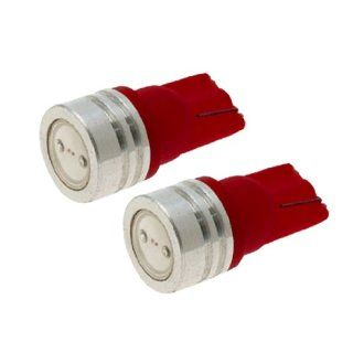 2 Pcs Car Auto T10 194 168 W5W Red LED Lamp Side Light Bulbs 0.5W Automotive