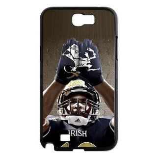 NCAA Notre Dame Fighting Irish Football Team Grading Irish Uniforms Logo Unique Durable Hard Plastic Case Cover for Samsung Galaxy Note 2 N7100 Custom Design UniqueDIY Cell Phones & Accessories
