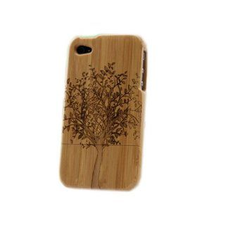 Matek Spring Big Tree Natural Real Bamboo Wood Wooden Hard Cover Case for Iphone 4 4G 4S,182 Cell Phones & Accessories