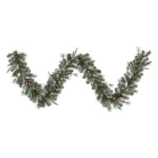Vickerman 9 ft. Frosted Pine Berry Garland   Christmas Garland