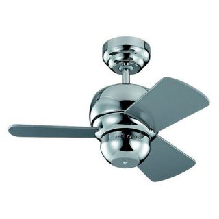 Monte Carlo 3TF24PN Micro 24 in. Indoor/Outdoor Ceiling Fan   Polished Nickel   Outdoor Ceiling Fans