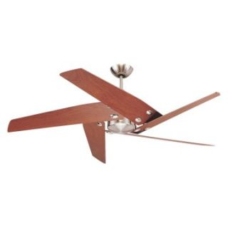 Monte Carlo 5STR52BS Star Tech 52 in. Indoor Ceiling Fan   Brushed Steel   Ceiling Fans
