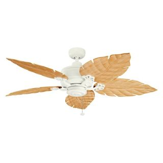 Kichler 320102SNW/370021 52 in. Crystal Bay Outdoor Ceiling Fan   Satin Natural White   Ceiling Fans