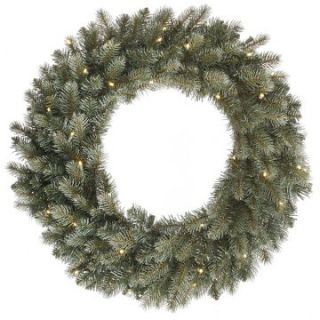Vickerman 60 in. Pre Lit LED Colorado Blue Wreath   Christmas Wreaths