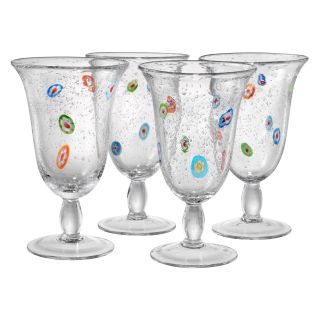Artland Inc. Fiore Footed Glasses   Set of 4   Stemware