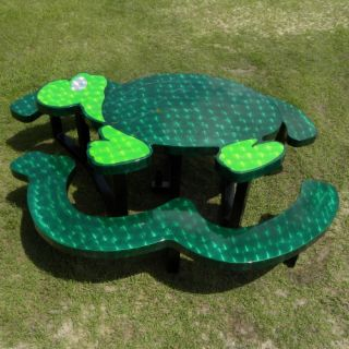 OFab Kid's Turtle Picnic Table   Kids Picnic Tables