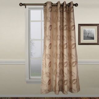 Ellis Astonish Taupe Grommet Top Lined Panel   50 x 84 in.   Curtains
