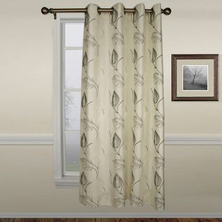 Ellis Astonish Onyx Grommet Top Lined Panel   50 x 84 in.   Curtains
