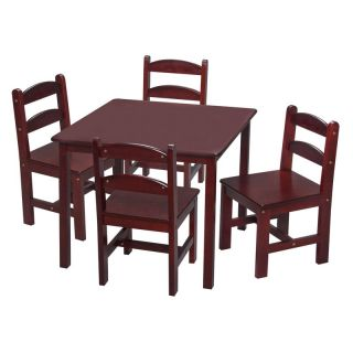 Gift Mark Square Table and Chair Set   5 Piece   Kids Tables and Chairs