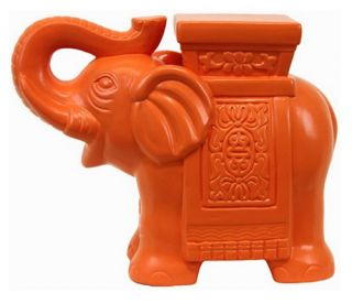Urban Trends Ceramic Elephant   Sculptures & Figurines