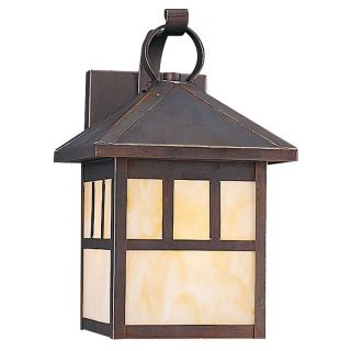 Sea Gull Prairie Statement Outdoor Wall Lantern   11.5H in. Antique Bronze   ENERGY STAR   Outdoor Wall Lights