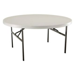 Lifetime 60 in. Round Heavy Duty Folding Banquet Table   Almond   12 Pack   Daycare Tables & Chairs