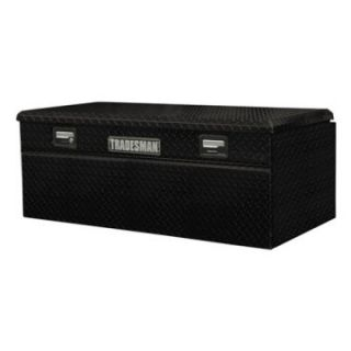 Tradesman Full size Single Lid Wide Design Flush Mount Truck Tool Box   Black   Truck Tool Boxes