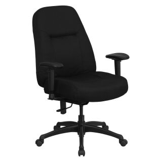 Flash Furniture Hercules Series 500 lbs. Capacity High Back Big and Tall Office Chair with Extra Wide Seat   Black   Desk Chairs