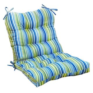 Greendale Home Fashions Indoor Seat/Back Chair Cushion   42 x 21 in.   Vivid Stripe   Dining Chair Cushions