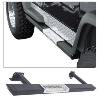 1987 1995 Jeep Wrangler (YJ) Running Boards   WP Warrior Products, 52 in., Direct fit, Powdercoated black