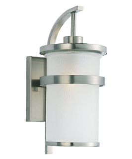 Sea Gull Eternity Outdoor Wall Light   17.25H in. Brushed Nickel   Outdoor Wall Lights