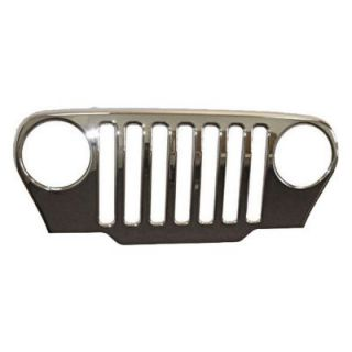 1987 1989 Jeep Wrangler (YJ) Grille Cover   Omix Ada, Direct fit, Chrome, Plastic