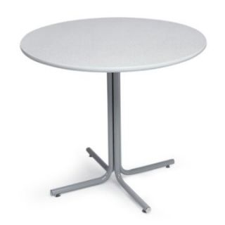 Correll Round Economy Breakroom Pedestal Table   Grey   Office Tables