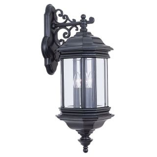 Sea Gull Hill Gate Outdoor Hanging Wall Lantern   25.5H in. Black   Outdoor Wall Lights