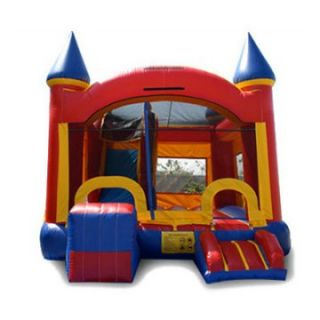 EZ Inflatables 5 N 1 Castle Combo Bounce House   Commercial Inflatables