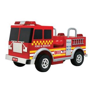 Kalee Red 12 Volt Battery Operated Fire Truck Riding Toy   Battery Powered Riding Toys