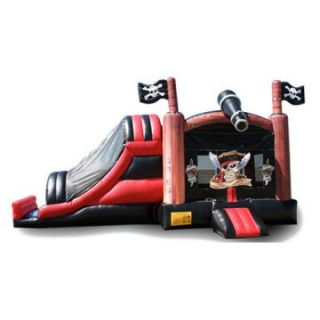 EZ Inflatables 3 N 1 Pirate Combo Bounce House   Commercial Inflatables