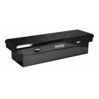 Tradesman Full size Low Profile Truck 70 in. Aluminum Cross Bed Tool Box   Black   Truck Tool Boxes