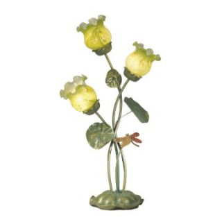 Dale Tiffany Lily Pad Dragonfly Accent Lamp   Tiffany Table Lamps