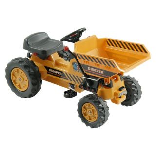 Kalee Pedal Tractor with Dump Bucket Riding Toy   Yellow   Pedal Toys