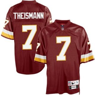 Reebok NFL Equipment Washington Redskins #7 Joe Theismann Burgundy Tackle Twill Throwback Football Jersey