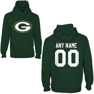 Green Bay Packers Mens Custom Any Name & Number Hooded Sweatshirt