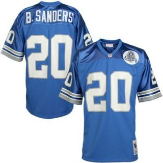 Detroit Lions #20 Barry Sanders Light Blue 1993 Authentic Throwback Football Jersey