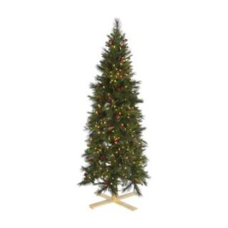 Slim Devonshire Mixed Pre Lit Christmas Tree   Warm White Lights   Christmas Trees