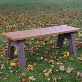 Econo Mizer Traditional Commercial Grade Backless Bench   Outdoor Benches
