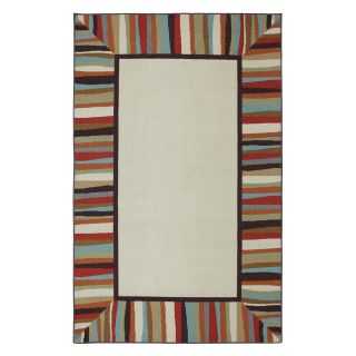Mohawk Home Patio Border Rainbow Indoor/Outdoor Rug   Area Rugs