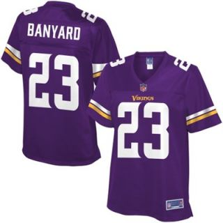 Pro Line Womens Minnesota Vikings Joe Banyard Team Color Jersey   Purple
