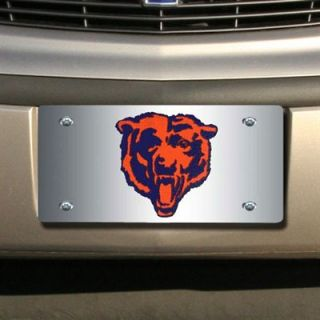 Chicago Bears Silver Mirrored License Plate