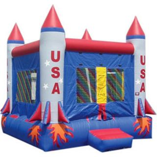 Kidwise Commercial Rocket Ship Bounce House   Commercial Inflatables