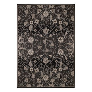 Capel Rugs Elsinore Garden Maze Indoor/Outdoor Area Rug   Ebony   Area Rugs