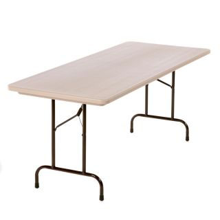Correll Rectangle Commercial Grade Blow Molded Folding Table   Banquet Tables