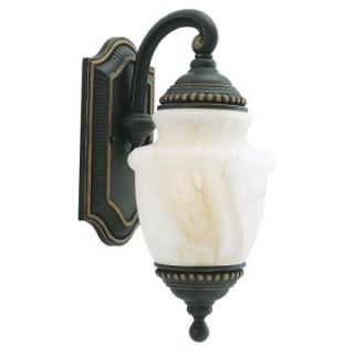 Sea Gull Portofino Outdoor Wall Lantern   15.75H in. Mojave Luster   Outdoor Wall Lights