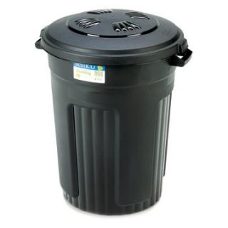 Semco 32 Gallon Injection Molded Round Trash Can   Case Pack of 5   Trash Cans