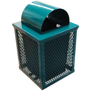 Leisure Craft 32 Gallon Square Expanded Trash Receptacle   Trash Cans