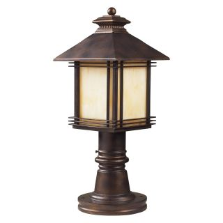 Elk Lighting Blackwell Post Light   18H in. Hazelnut Bronze   Outdoor Post Lighting