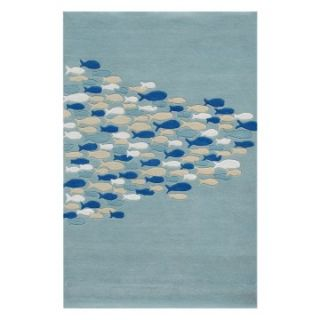 Jaipur Rugs Coastal Living Hand Tufted CH03 Area Rug   Pastel Blue   Area Rugs
