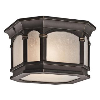 Kichler Nob Hill 49035RZ Outdoor Ceiling   10 in.   Rubbed Bronze   Outdoor Ceiling Lights