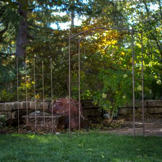 Coral Coast Acropolis Extra Wide Metal Arbor with Matching Trellis   Arbors